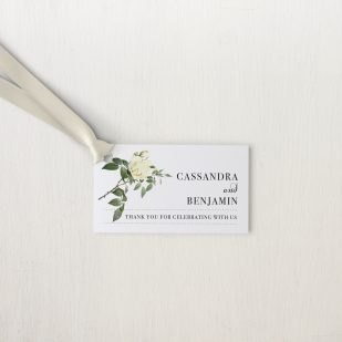 Ivory & White Favor Tags