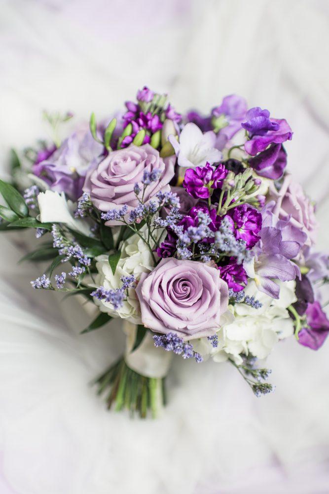 Monochrome Purple Wedding