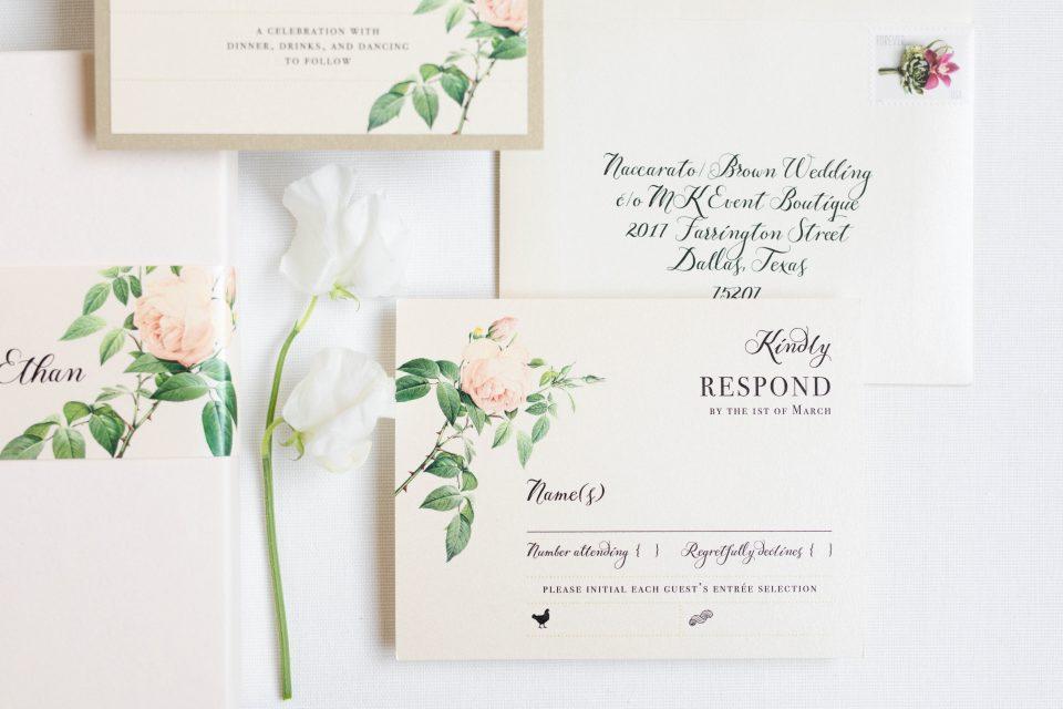 Custom Garden Wedding Invitations
