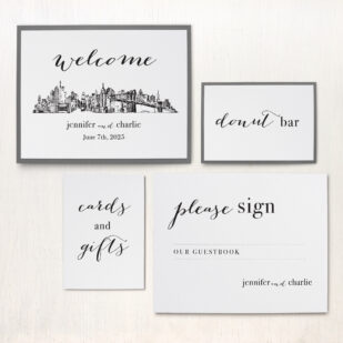 City Skyline Custom Signs