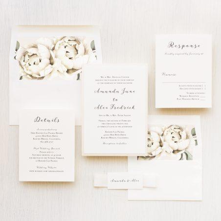 Simple Ivory Wedding Invitations