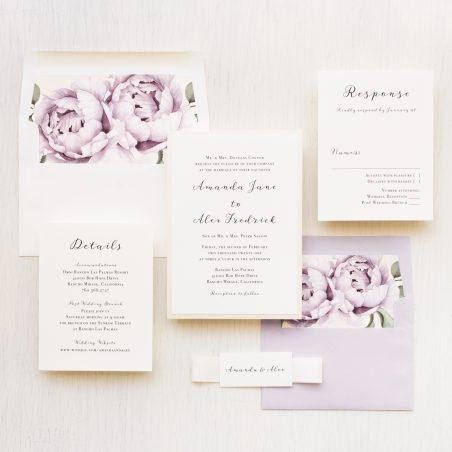 Simple Lilac Wedding Invitations