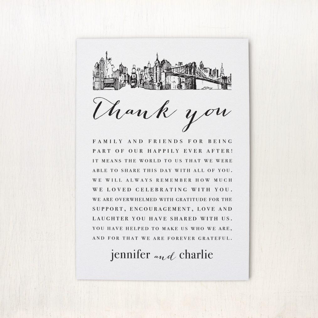 City Skyline Reception Thank Yous