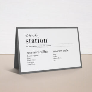 City Skyline Tented Menu Cards